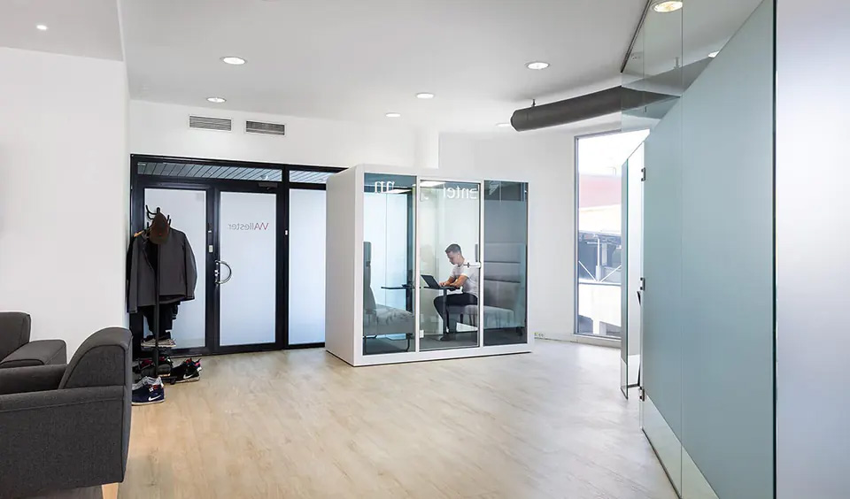 A Space 2 in a communal office space